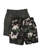Shorts - 2Pk Twill Cargo & Camo Shorts (2T-4T)-2623497