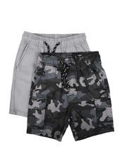 Shorts - 2Pk Twill Cargo & Camo Shorts (4-7)-2623585