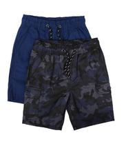 Boys - 2Pk Twill Cargo & Camo Shorts (8-18)-2623519