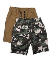 Boys - 2Pk Twill Cargo & Camo Shorts (8-18)-2623533