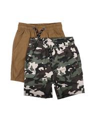 Arcade Styles - 2Pk Twill Cargo & Camo Shorts (4-7)-2623537