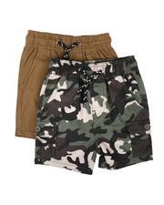 Shorts - 2Pk Twill Cargo & Camo Shorts (2T-4T)-2623543