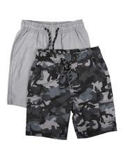 Boys - 2Pk Twill Cargo & Camo Shorts (8-18)-2623580