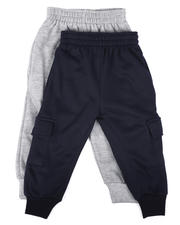 Bottoms - 2 Pk Cargo Joggers (2T-4T)-2624837