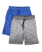 Boys - 2 Pk Marled & Solid Fleece Shorts (8-18)-2624170