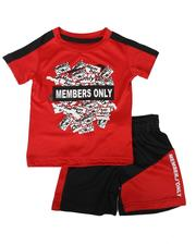 Boys - 2 Pc Name Tag Graphic Tee & Color Block Shorts Set (2T-4T)-2623464
