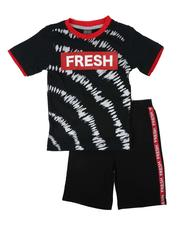 Boys - 2 Pc Printed Tee & Shorts Set (4-7)-2624822
