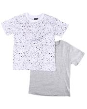 Boys - 2 Pack Solid & Printed Crew Neck T-Shirts (8-18)-2604328