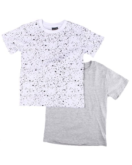Arcade Styles - 2 Pack Solid & Printed Crew Neck T-Shirts (8-18)