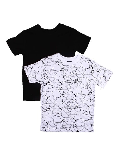 Arcade Styles - 2 Pack Solid & Printed T-Shirts (2T-4T)