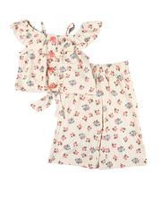 Kensie Girl - 2 Pc Ruffle Top & Pants Set (4-6X)-2605149