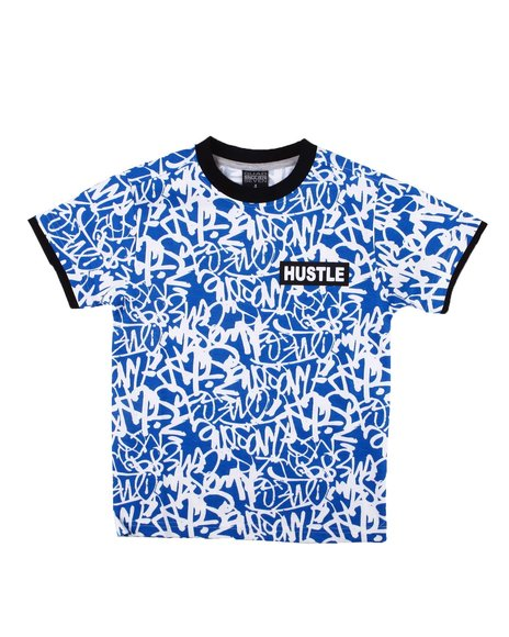 Arcade Styles - All Over Print Ringer Tee (8-18)