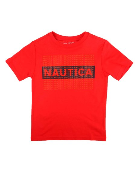 Nautica - Layered Box Logo Tee (2T-4T)