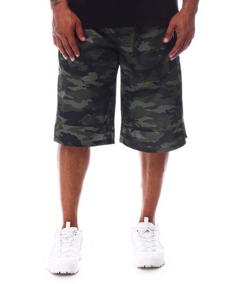 Akademiks - Color Block Tech Fleece Shorts (B&T)