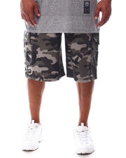 Akademiks - Ribbed Waistband Cargo Shorts (B&T)-2626093