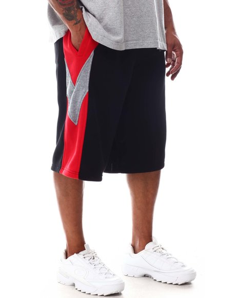 Akademiks - Color Block Fleece Shorts (B&T)