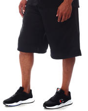 Akademiks - Color Block Tech Fleece Shorts (B&T)-2626168
