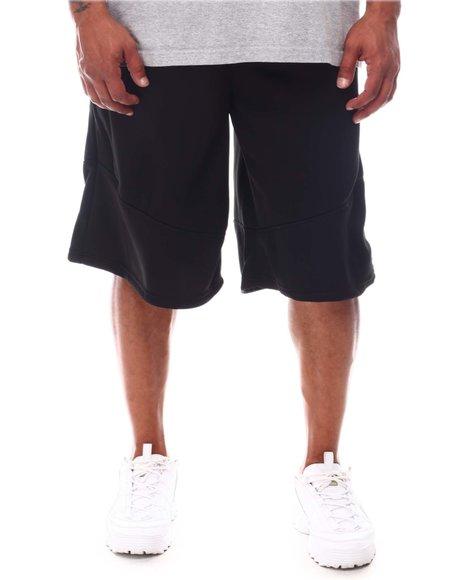 Akademiks - Tech Fleece Shorts With Seam Sealed Zip (B&T)
