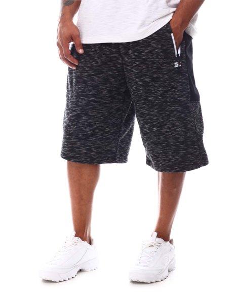 Akademiks - Two Tone Zippers Fleece Shorts (B&T)