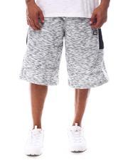 Akademiks - Two Tone Zippers Fleece Shorts (B&T)-2626196