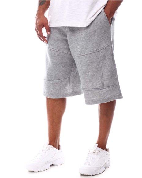 Akademiks - Panelled Fleece Shorts (B&T)