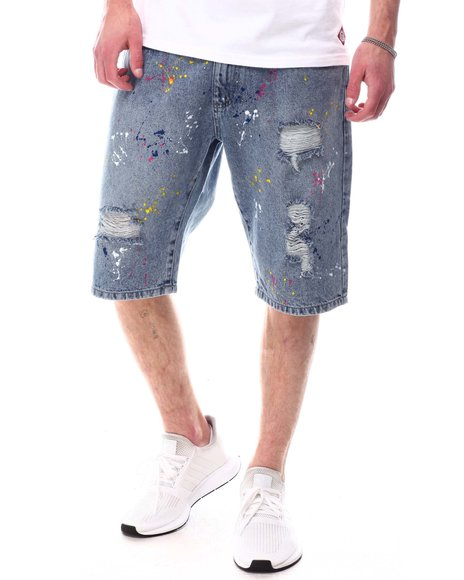 Akademiks - Paint Splatter Denim Short