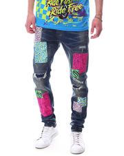 Jeans & Pants - PRINTED BEAR DENIM PANT-2626694