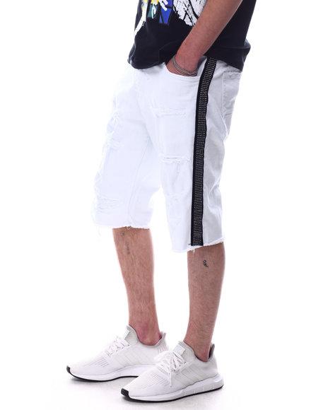 Jordan Craig - Rhinestone Stripe Denim Short