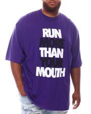 Men - Run More Than Your Mouth T-Shirt (B&T)-2625388
