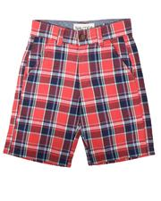 Boys - Plaid Twill Shorts (8-16)-2625683
