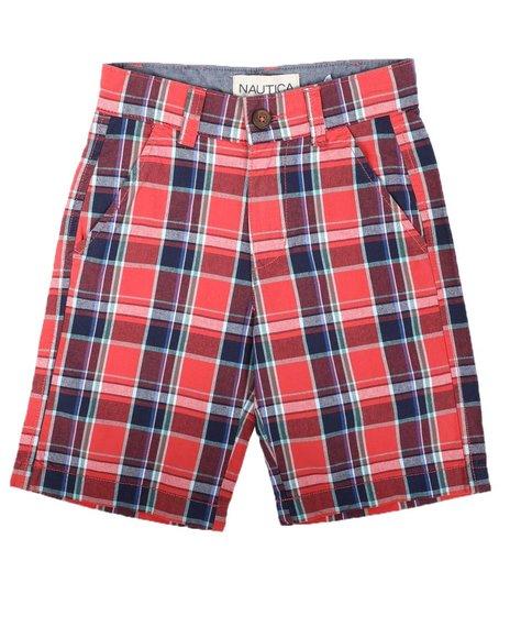 Nautica - Plaid Twill Shorts (8-16)