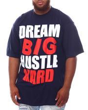 Men - Dream Big Hustle Hard T-Shirt (B&T)-2625348