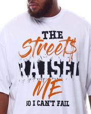 Men - Streets Raised Me T-Shirt (B&T)-2625360