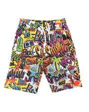 Boys - Graffiti All Over Print Shorts (8-20)-2625762