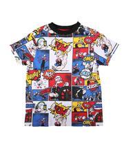 Boys - Popeye Comic Print Ringer Tee (4-7)-2625839