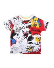Boys - Popeye Doodle Print Tee (2T-4T)-2626050