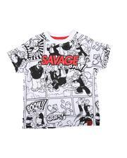Boys - Savage Popeye Comic Print Ringer Tee (4-7)-2626054
