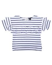 Tops - Striped Top W/ Chest & Sleeve Ruffles (4-6X)-2626580