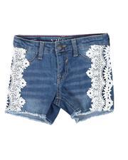 Sizes 4-6x - Kids - Lace Side Denim Shorts (4-6X)-2626911