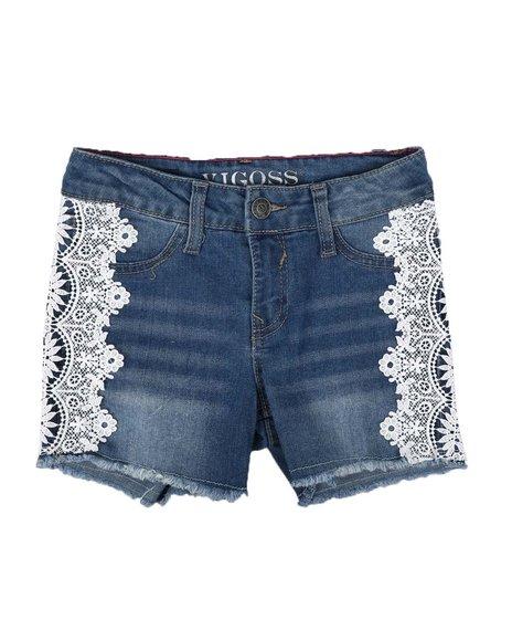 Vigoss Jeans - Lace Side Denim Shorts (7-14)