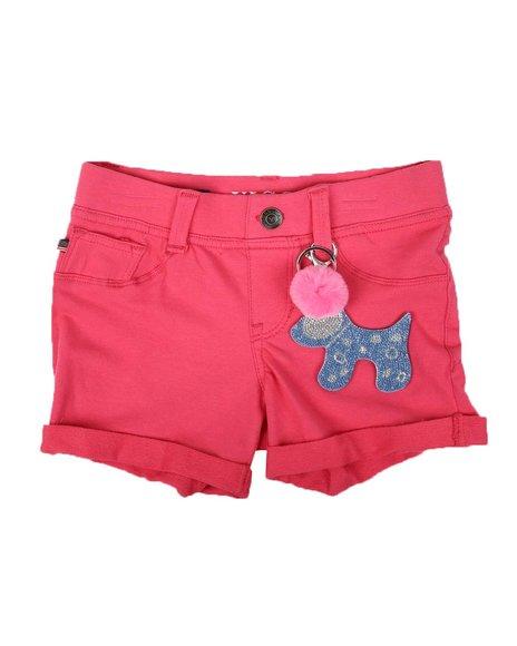 Vigoss Jeans - Knit Denim Roll Cuff Pull On Shorts (7-14)