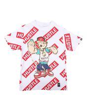 Boys - Popeye Hustle Repeat Print Tee (8-20)-2626034