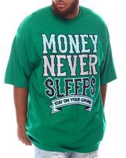 Big & Tall - Money Never Sleeps T-Shirt (B&T)-2625584