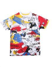 Boys - Popeye Doodle Print Tee (8-20)-2626045