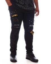 SMOKE RISE - Stud & Patch Rip Repair Denim Jeans (B&T)-2625085