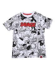 T-Shirts - Savage Popeye Comic Print Ringer Tee (8-20)-2626059
