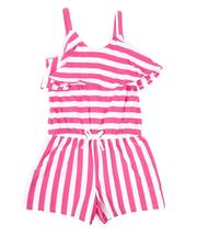Rompers - Striped Romper W/ Ruffle (7-16)-2626589