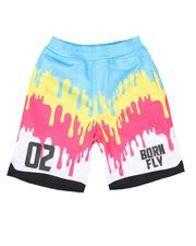 Bottoms - Drip Print Mesh Basketball Shorts (4-7)-2627474