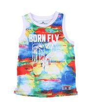 Born Fly - Tie Dye Mesh Basketball Tank Top (8-20)-2627484