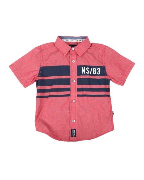 Nautica - Heritage Placement Stripe Button Down Shirt (4-7)